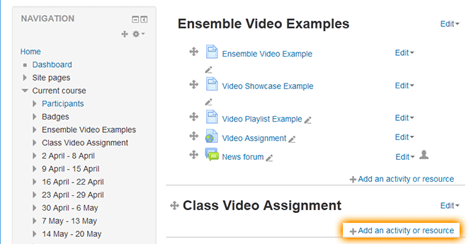 moodle add activity