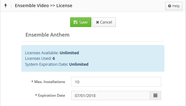 institution anthem license