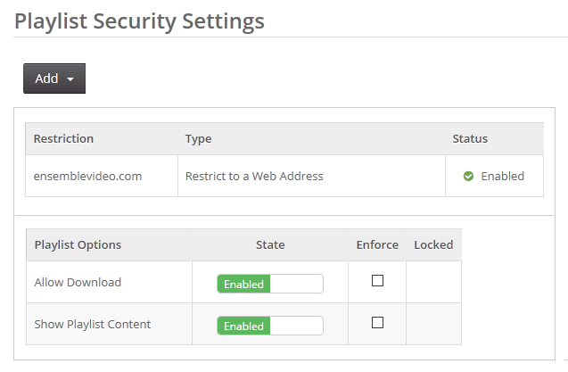 Player Security System Web Address Restriction