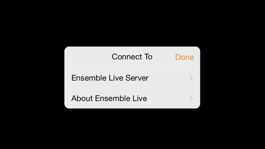 Ensemble Live Settings