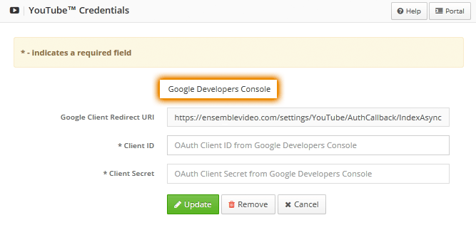Google Dev Console Button