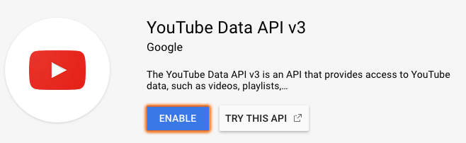 Youtube Enable