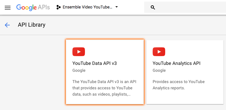 Import Videos from YouTube™ – Ensemble Video Support