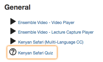 Click Video Quiz