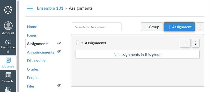 Add Canvas Assignment