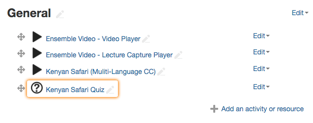 Video Quiz Added to Moodle