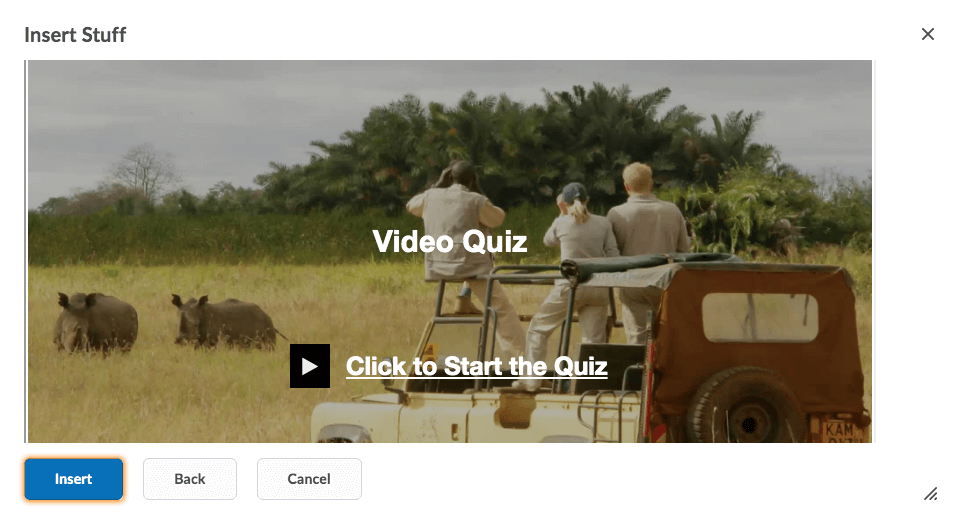 Insert Video Quiz