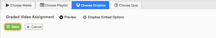 Save Video Dropbox